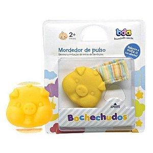 Mordedor de Pulso Bochechudos Porco Amarelo
