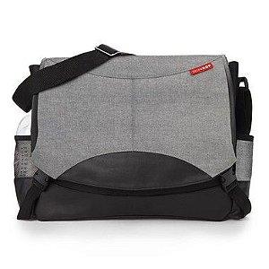 Bolsa Maternidade Diaper Bag Skip Hop Swift Messenger Heather Grey Cinza