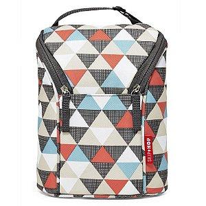 Bolsa Térmica para Mamadeira Double Bottle Bag Skip Hop Triangles Triangulos