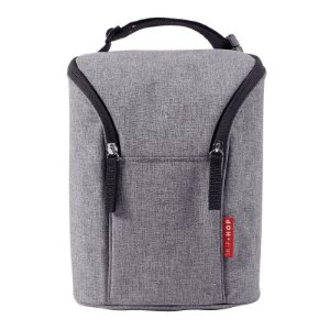 Bolsa Térmica para Mamadeira Double Bottle Bag Skip Hop Heather Grey Cinza