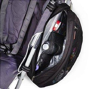 Bolsa para Carrinho de Bebe Organizadora Skip Hop Saddle Bag Black Preta