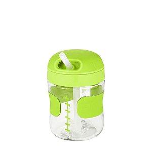 Copo com Canudo de Silicone Oxotot 210ml Verde