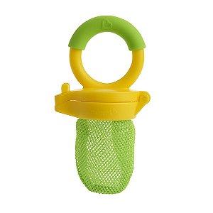 Redinha Alimentadora Bebe para Frutas e Papinhas Munchkin Amarela e Verde