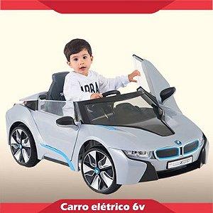 Mini Carrinho Elétrico 6V BMW i8 Concept Prata