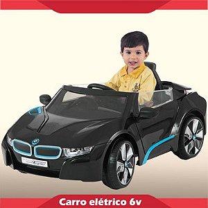 Mini Carrinho Elétrico 6V BMW i8 Concept Preta