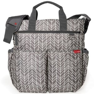 Bolsa Maternidade Diaper Bag Duo Signature Grey Feather Cinza - Skip Hop