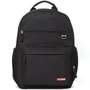 Bolsa Maternidade Skip Hop Diaper Bag Duo Signature Mochila Backpack Black Preta