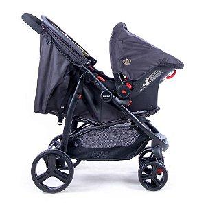 Carrinho de Bebe com Bebe Conforto Travel System Nexus Cosco Preto