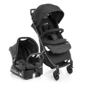 Carrinho de Bebe Airways Full Black Preto - Safety