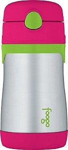 Garrafinha Térmica Melancia e Verde Thermos Foogo  290 ml