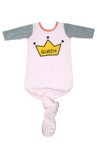 Body Pouch Queen Rosa Bebe Menina Manga Longa 0-3 Meses - Comfy