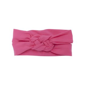 Faixa Turbante Trança Rosa Shock Gumii