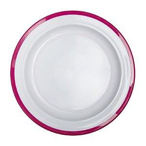 Prato de treinamento linha Big Kids Oxoxtot rosa e Branco