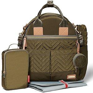 Bolsa Maternidade Diaper Bag Suite 6pc Backpack Olive Skip Hop