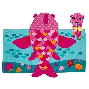 Toalha de Banho infantil Peixe Rosa - Stephen Joseph