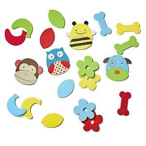 Kit brinquedo infantil para banho Zoo Mix & Match Foam Palms - SkipHop