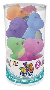 Amiguinhos do Banho - 5 Peças Dino e os Amigos