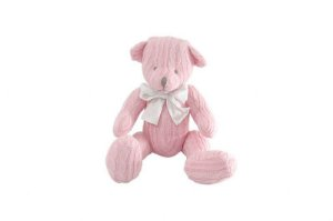 Urso de Tricô Rosa