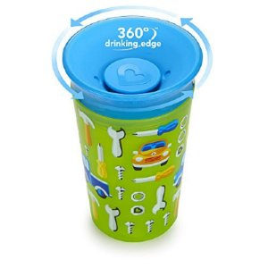 Copo Grande Miracle 360 Decorado Carros - Munchkin 266 ml