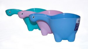 Caneca de Banho Dino Baby Bath - Rosa ou Azul