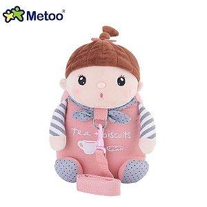Mochila com Alça de Segurança Metoo doll Sweet Candy Bebe Rosa