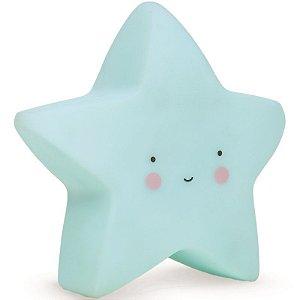 Luminária Abajur Estrela de Led Azul