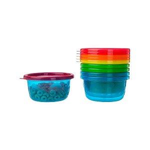 Kit com 6 Potes Infantis com Tampa de 236 ml