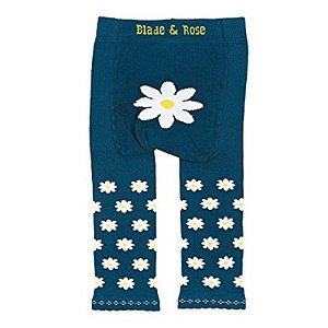 Meia Calça Legging Margarida Azul - Blade and Rose