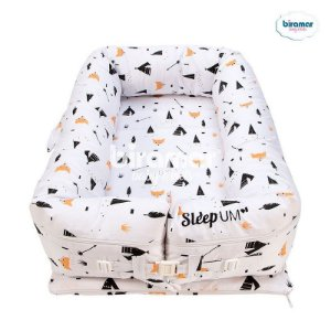 Bercinho Portátil Ninho para Bebê Sleep Um Fox Preto - Biramar Baby