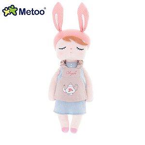 Boneca Angela Doceira Retro Bunny Rosa - Metoo