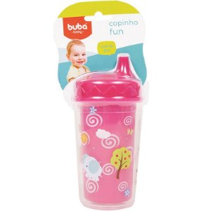 Copinho Fun 250 ml Rosa - Buba