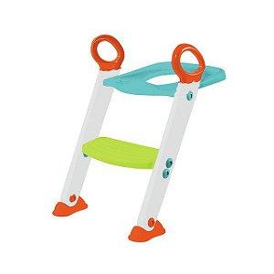 Assento Redutor com Escada Penico Azul com Verde - Buba Baby