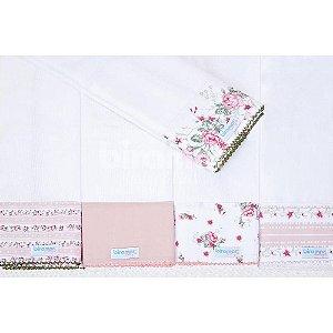 Conjunto 5 Fraldas Cremer Luxo - Petit Rosê - Biramar Baby