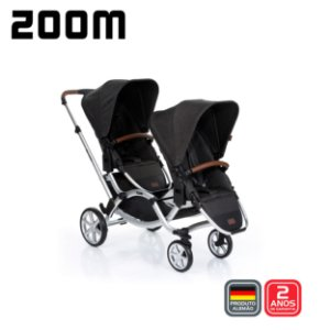 Carrinho de Bebê Travel System Zoom Piano Preto Gemêos ABC Design