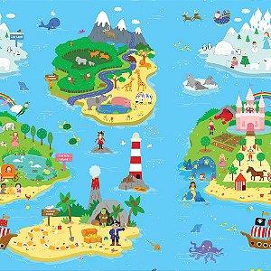 Tapete de Atividades Dupla Face Baby Play Mat Médio Magical Island - Safety 1st