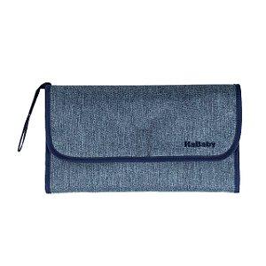 Trocador Portátil Impermeável Jeans - Kababy