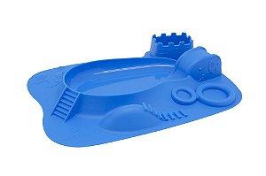Jogo Americano em Silicone Divertido Hipopótamo Azul - Marcus & Marcus