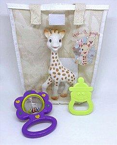 Kit Presente Fresh Touch Sophie La Girafe chocalho Roxo
