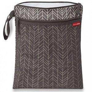Bolsa Sacola para Roupa Seca ou Molhada (Wet Dry) Grey Feather Cinza - Skip Hop