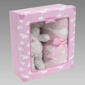 Manta para Bebê Gift Ovelhinha Rosa - Buba