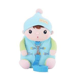 Mochila com Alça de Segurança Metoo doll Sweet Candy Bebe Azul