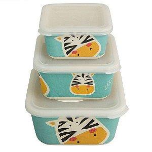 Kit Ecológico com 3 potes Zebra - Girotondo