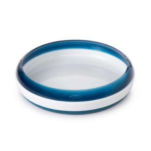 Prato de Treinamento Azul Marinho 190 ml Base Antiderrapante - Oxotot