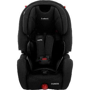 Cadeirinha para Carro Evolve-X 9 a 36 Kg com Isofix Preto Sport - Cosco