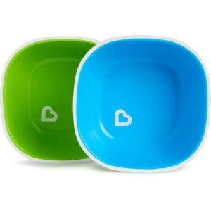 Conjunto com 2 Tigelas Azul e Verde Splash - Munchkin