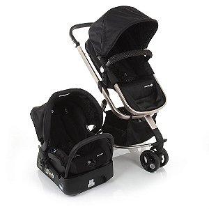 Carrinho de Bebê Travel System Mobi Black Rosé - Safety 1st