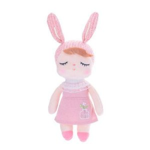 Mini Boneca Ângela Clássica Jardineira rosa - Metoo Doll