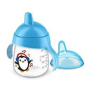 Copo De Treinamento Pinguim 260Ml Azul - Philips Avent
