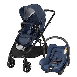 Carrinho de Bebê Travel System Anna Trio Azul - Maxi Cosi