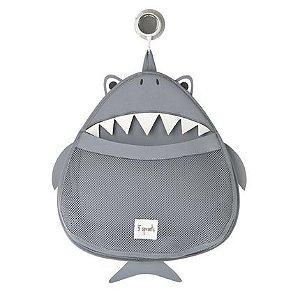 Organizador de Banho Tubarão cinza - 3 Sprouts